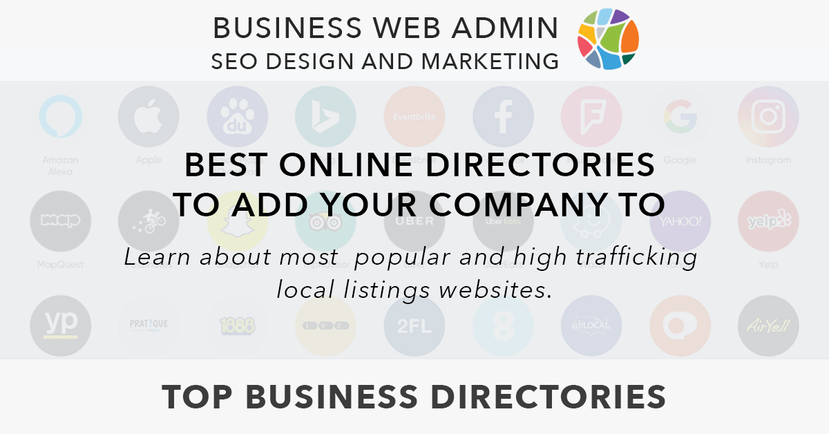 Business Web Admin helps to add businesses to the top listing websites