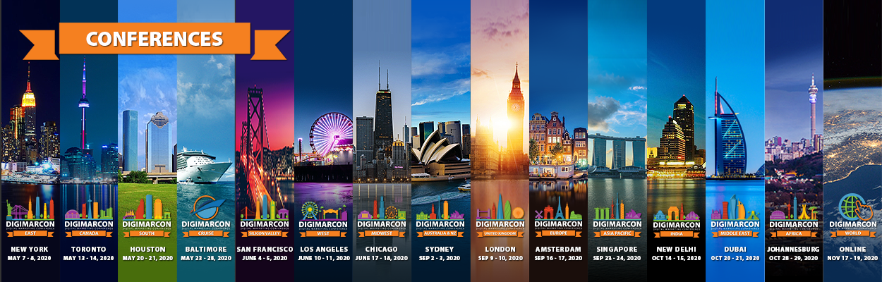 DigiMarCon Announces its Global Digital Marketing Conference & Exhibition Series Events for 2020