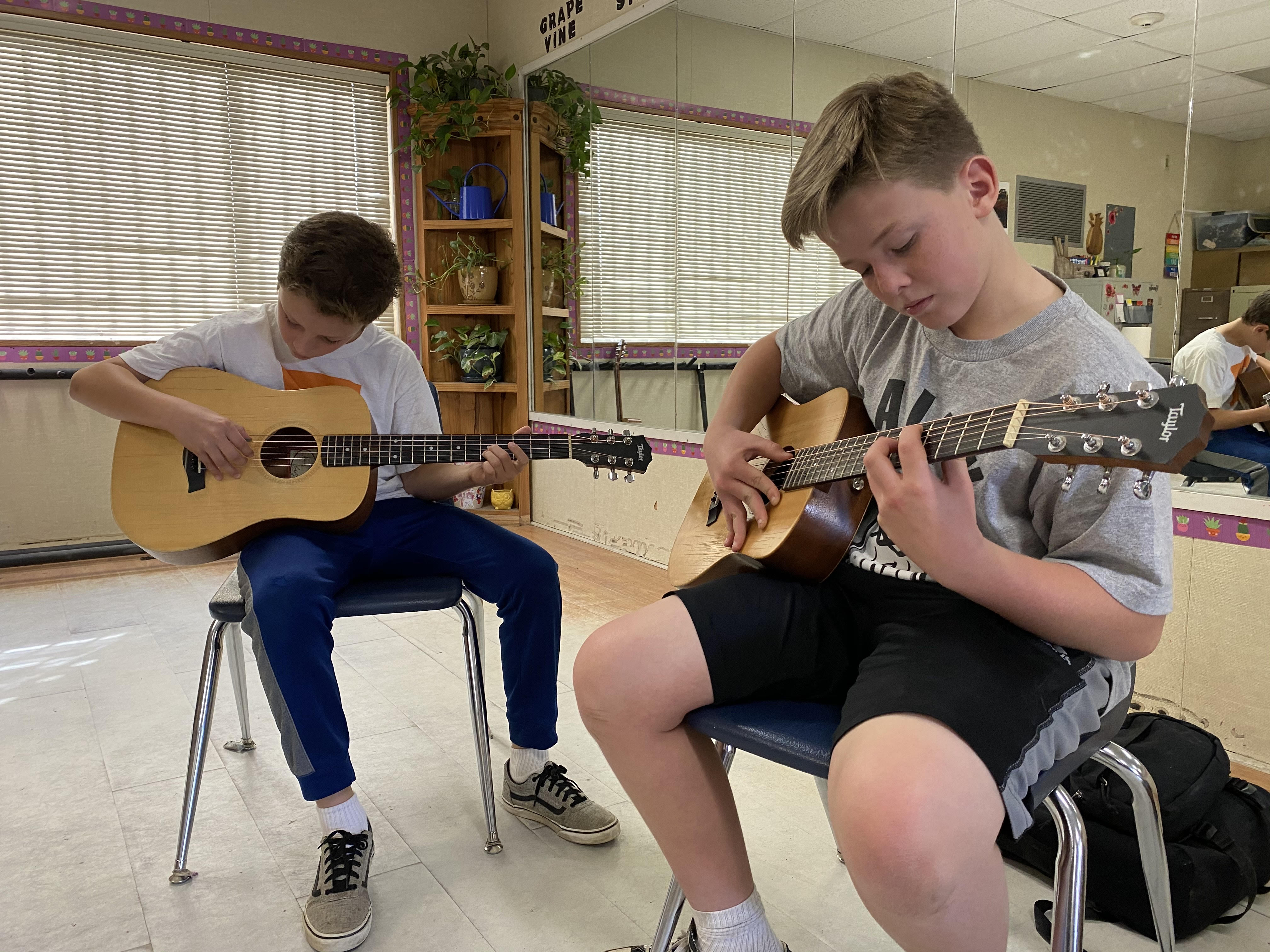 Guitar Donation To Lakeside Middle Turns Into Booming Music Classes