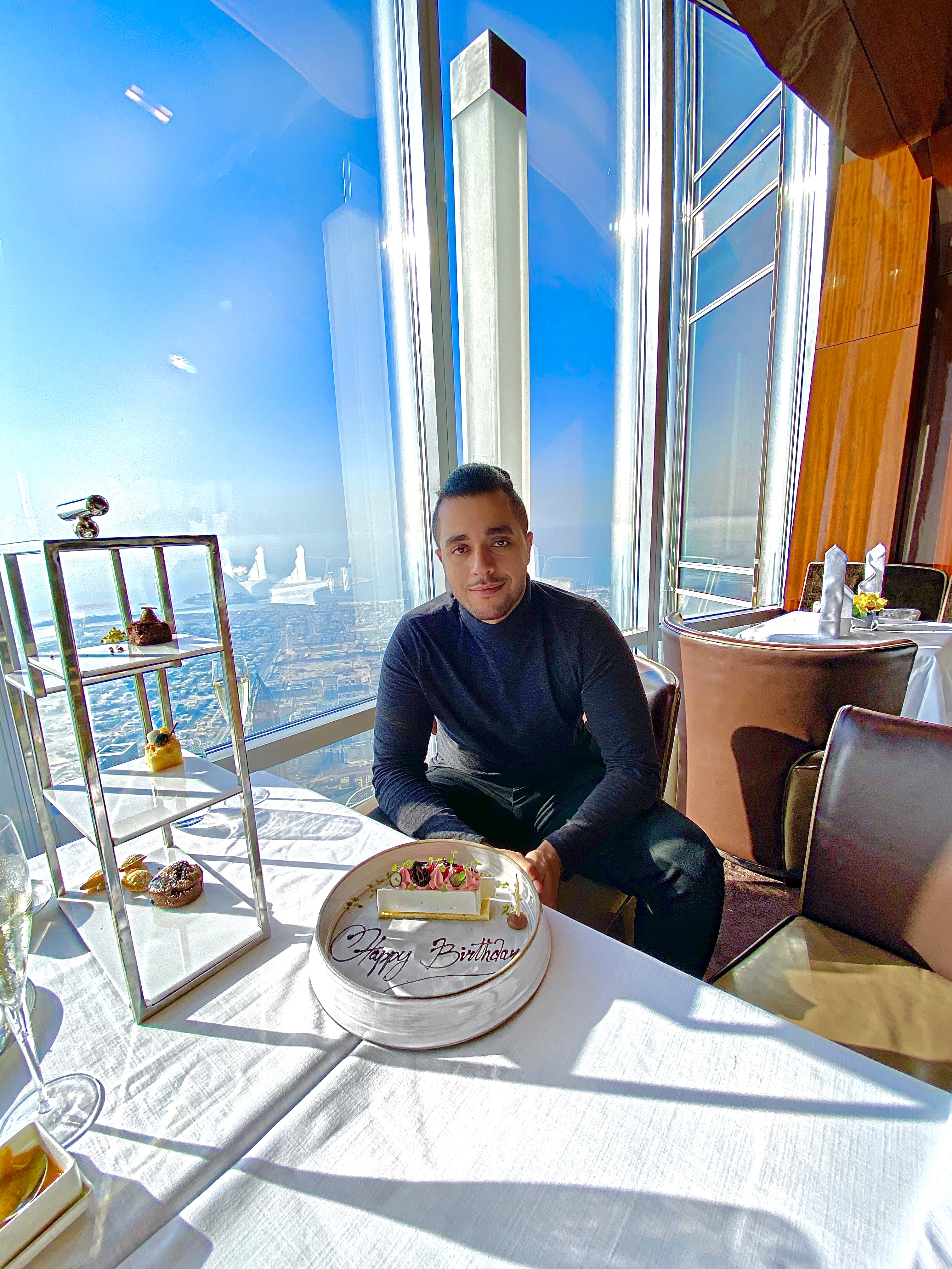 Kareem Zoro celebrated his birthday at the top of the world