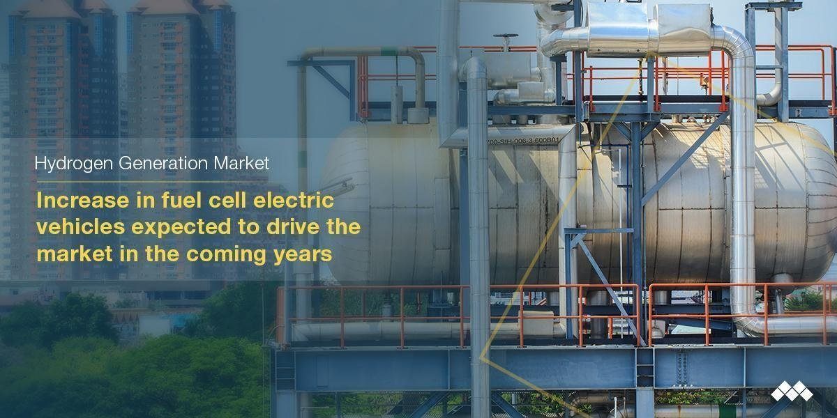 Hydrogen Generation Market Growing at CAGR of 8.0% | Key Players Air Liquide, Linde, Praxair, Air Products and Chemicals, Ballard Power Systems, Iwatani
