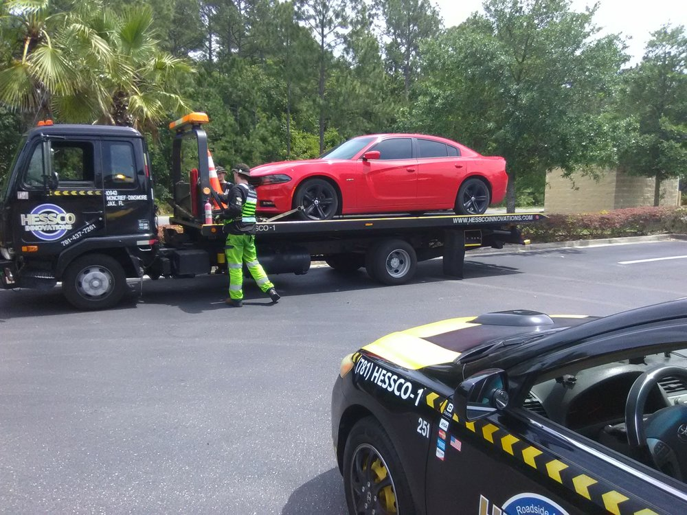 A-HESSCO Roadside Assistance & Towing Innovations Adds A Wrecker Truck To Their Towing and Roadside Assistance Fleet In Jacksonville