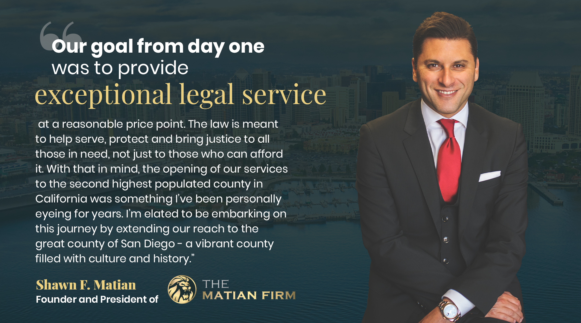 The Matian Firm Opens New Law Offices in San Diego, CA