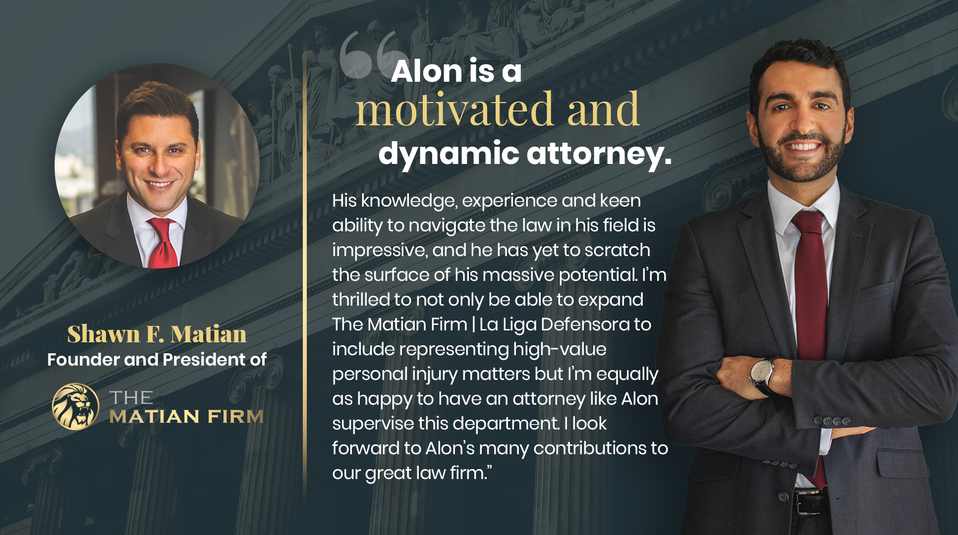 The Matian Firm is proud to announce the appointment of Attorney Alon Aliav