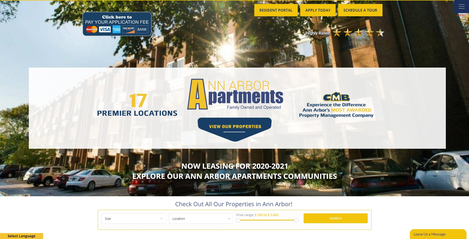 Ann Arbor Apartments receives highly rated Google Reviews