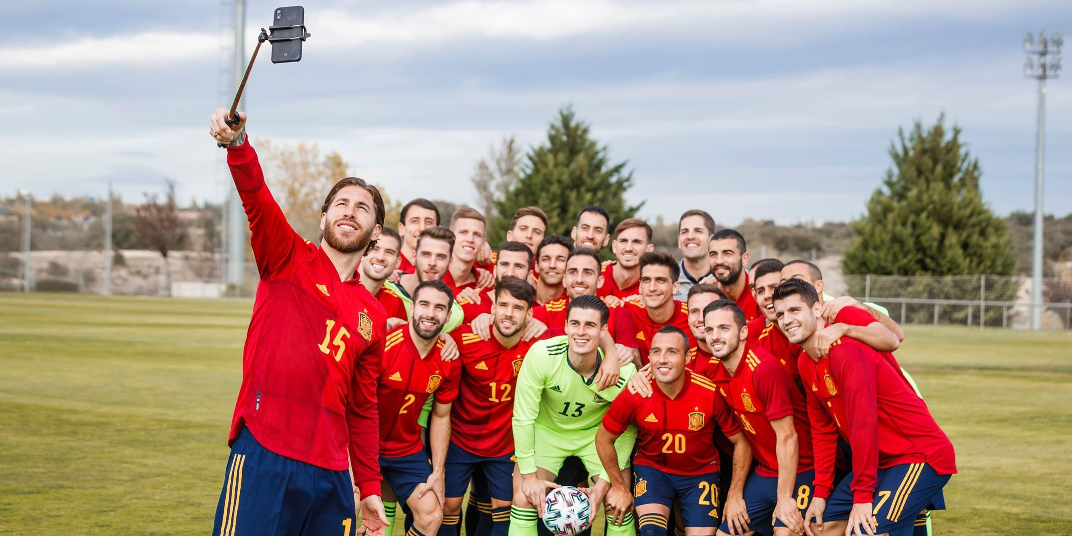 Adidas Spanish National Team 2020 Home Jersey Player