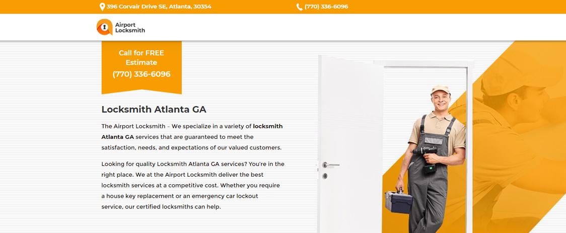 Renowned locksmith service in Atlanta GA, The Airport Locksmith offers locksmith service for residential, commercial and auto locksmith emergencies