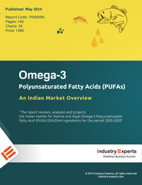 Increased Usage in Pharma and Infant Nutrition Drives Global Omega-3 PUFAs Market to touch nearly 200k Metric Tons by 2026 - Market Report (2019-2026) by Industry Experts, Inc