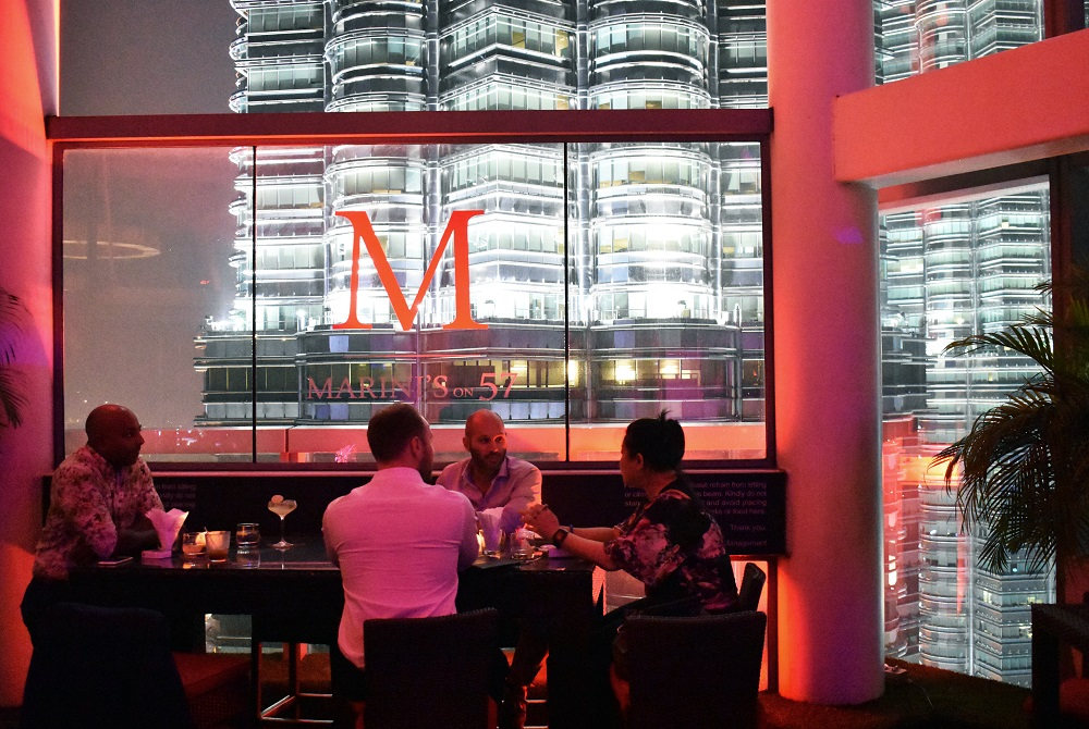The Astonishing View and Romantic Rooftop Restaurant in KL at Marini's On 57