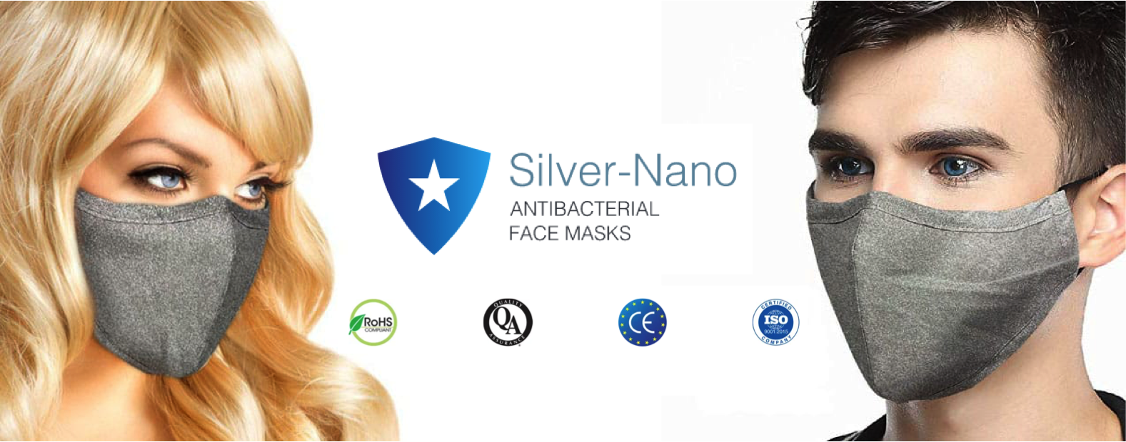 Re-usable Silver-Nano Anti-bacterial Face Masks have just arrived in stock