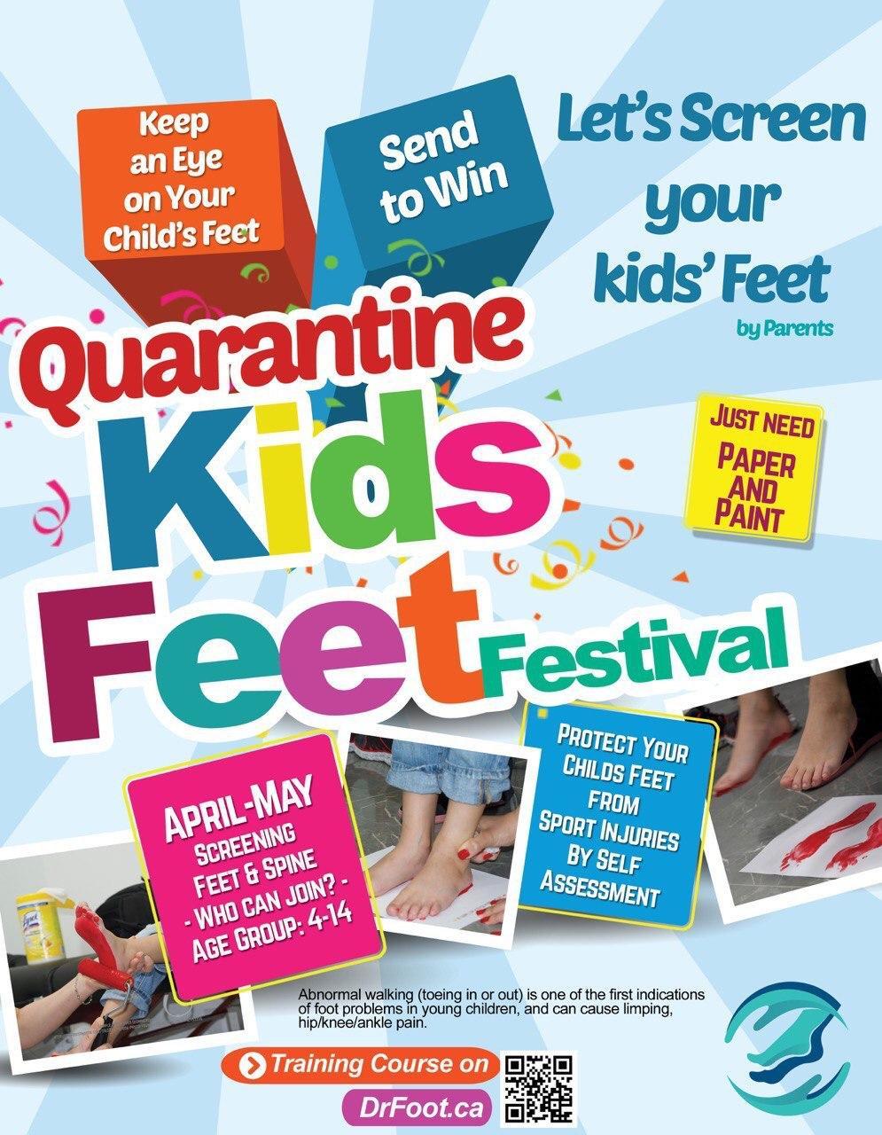 Quarantine is best time for Self-screening kids' feet disorders