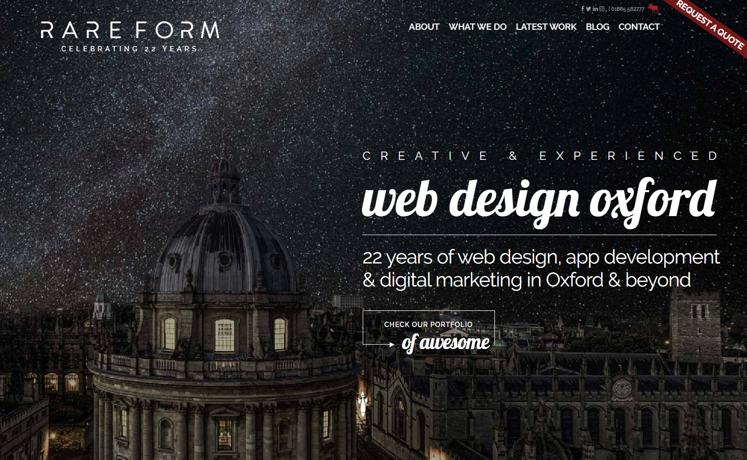 Oxford Web Design Agency Celebrates 22 Years