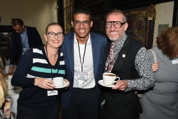 British psychologist Lee Chambers with Shelley Parry and Andrew Leeming