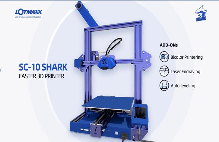 Shark Announcing the Release of the Innovative SHARK 3d Desktop Printer