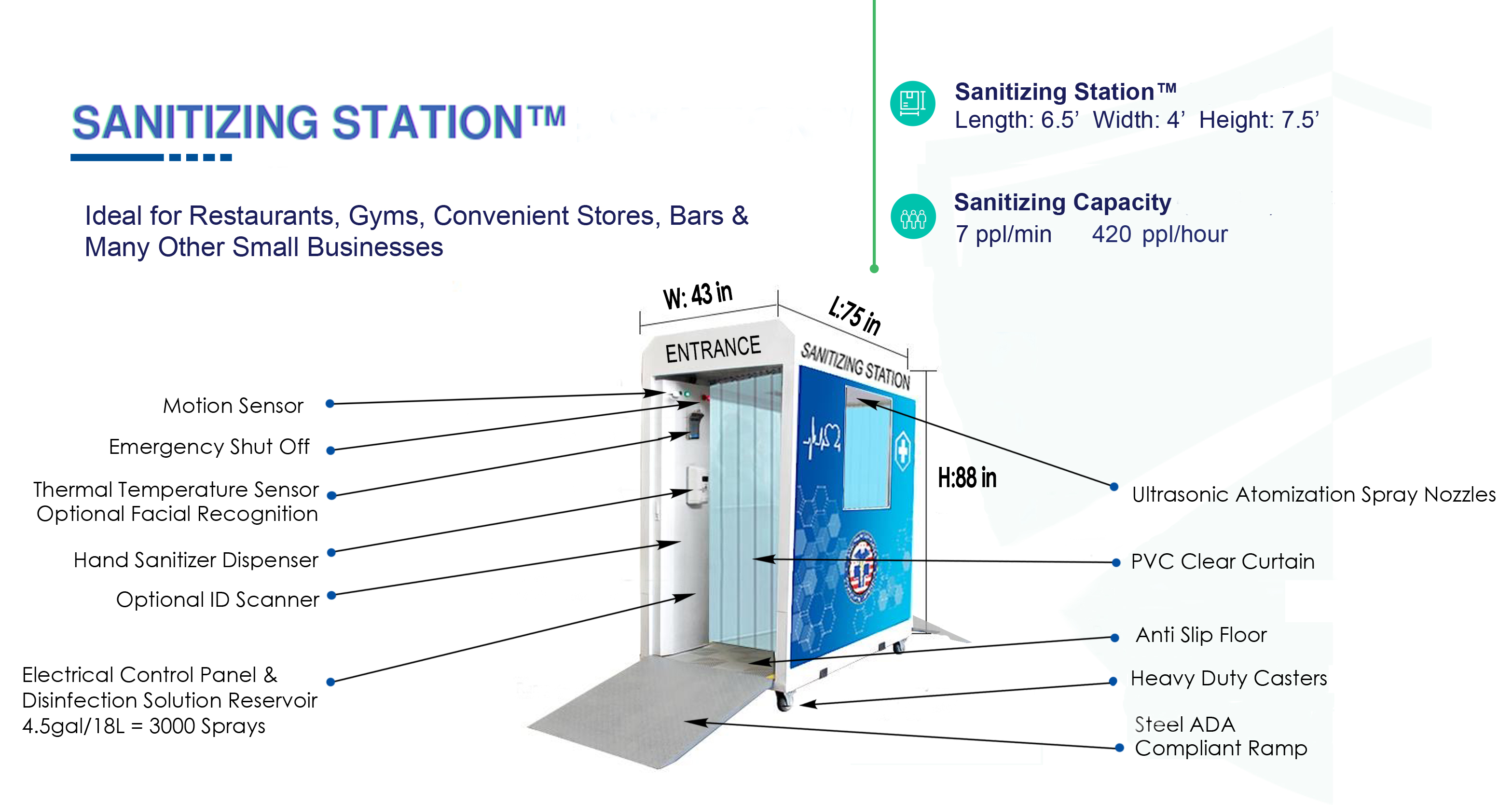 Portable Sanitizing Station™ from the National Safety Health & Compliance Commission Helps Combat the Spread of COVID-19