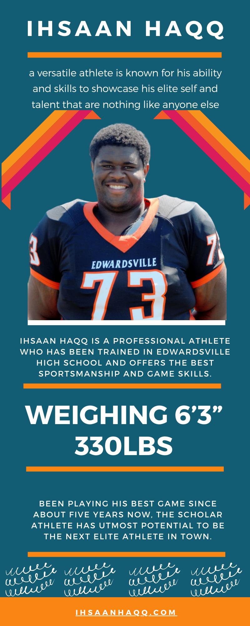 Ihsaan Haqq, an elite athlete from Edwardsville High School is here for the long run show
