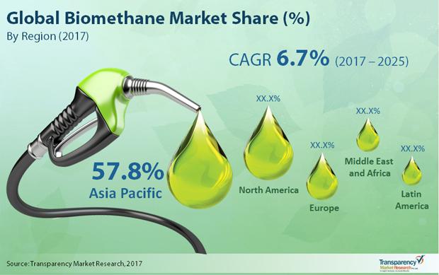 Biomethane Market To Reach US$2,624.5 Mn By 2025