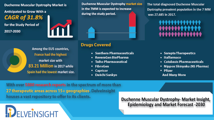 Duchenne Muscular Dystrophy Market Analysis, Market Size, Epidemiology, Companies, Drugs and Competitive Analysis by DelveInsight