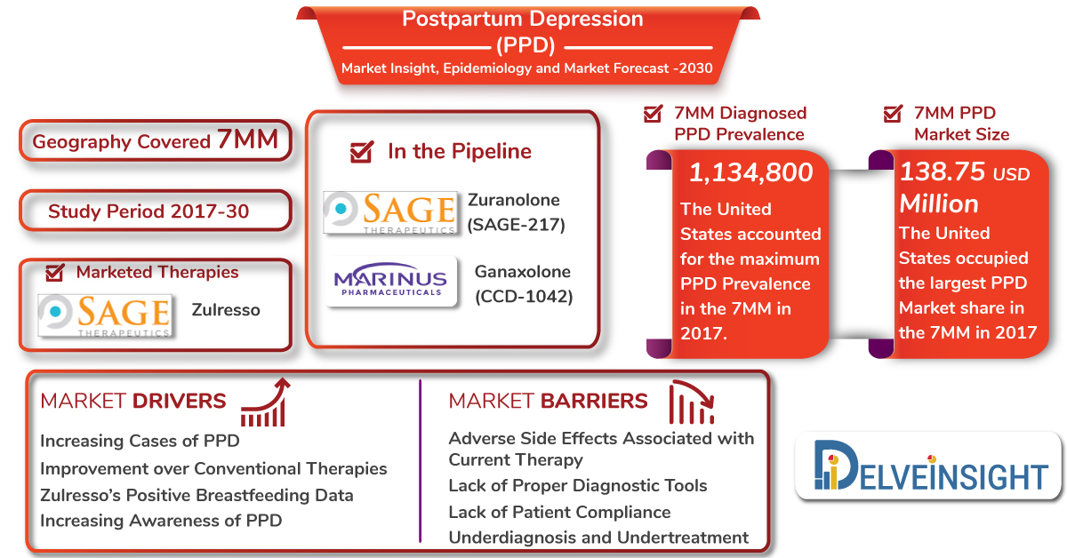 Post Partum Depression Market Size Spurs Due To An Influx Of Pharma Companies