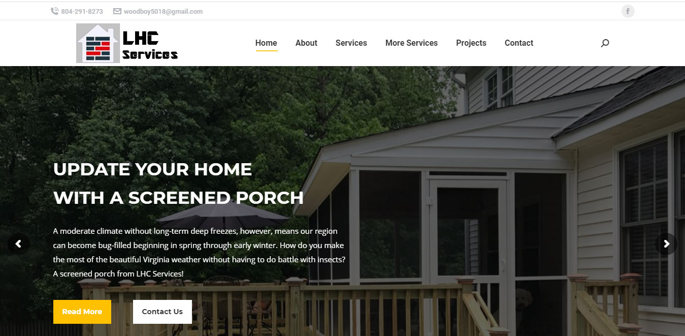 LHC Services offers deck build, deck repair, screened porch, concrete work, driveways, patios and stamped concrete in Richmond, Midlothian, Chesterfield, Powhatan, Short Pump and Glen Allen areas.