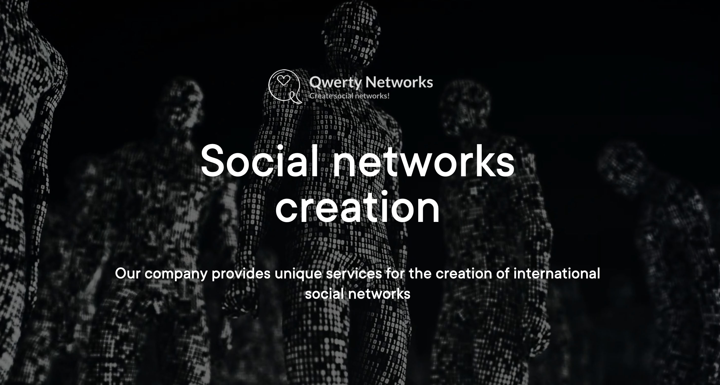 Development and creation of social networks. New Qwerty Networks experience