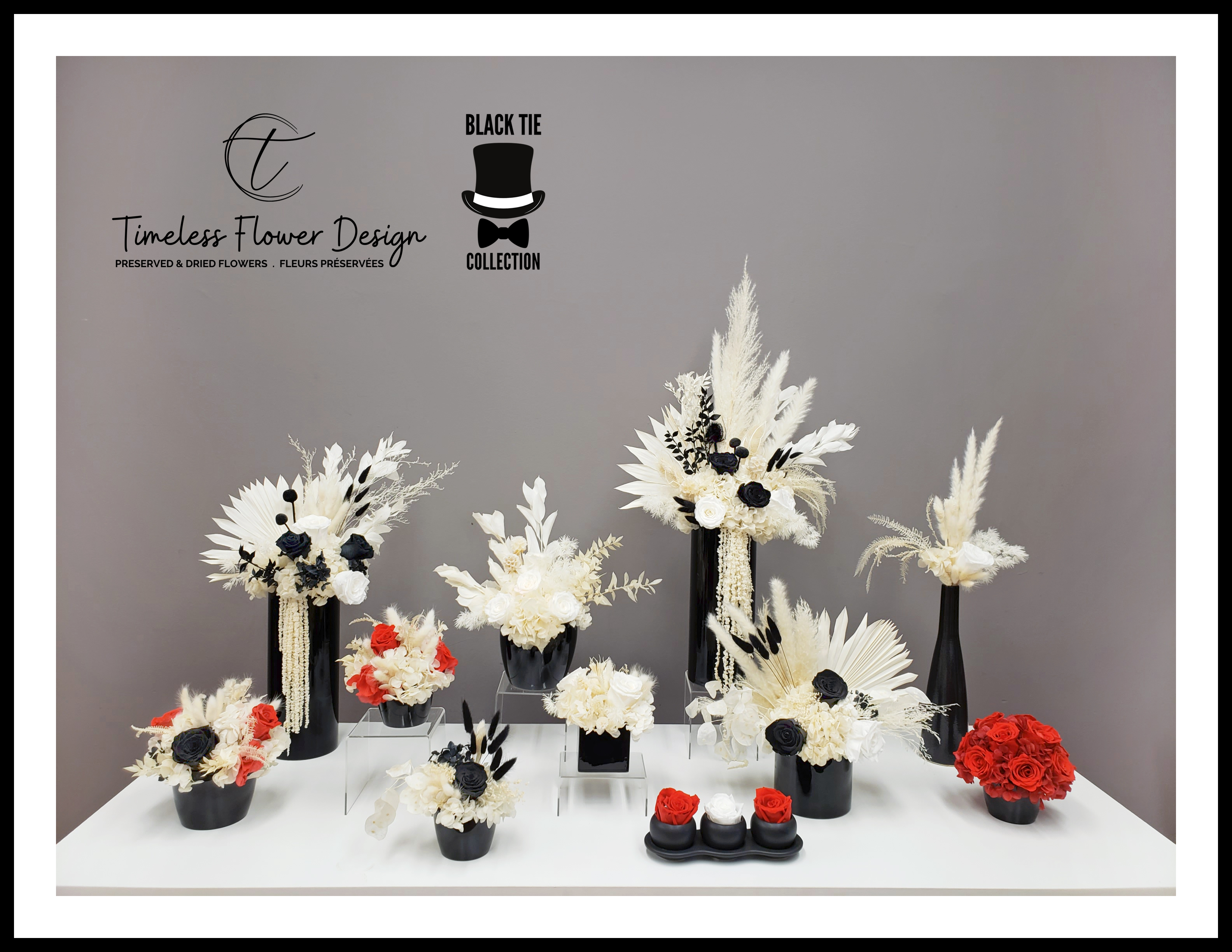 Timeless Flower Design launches a new designer flower collection - the Black Tie Collection