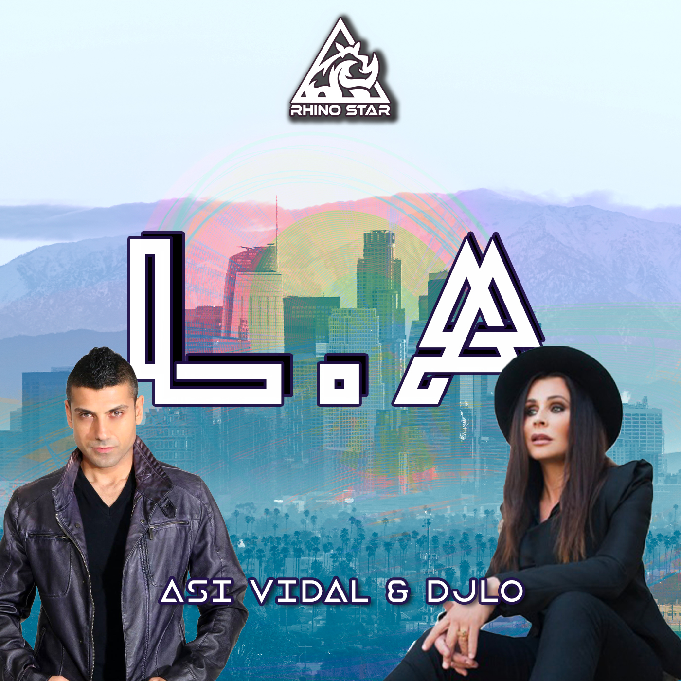 """International DJs, Asi Vidal and DJLO teams up for an immense debut on Rhino Star Records titled """"L.A."""" featuring anthemic, EDM-flavored vocals and brass-inspired synth leads."""