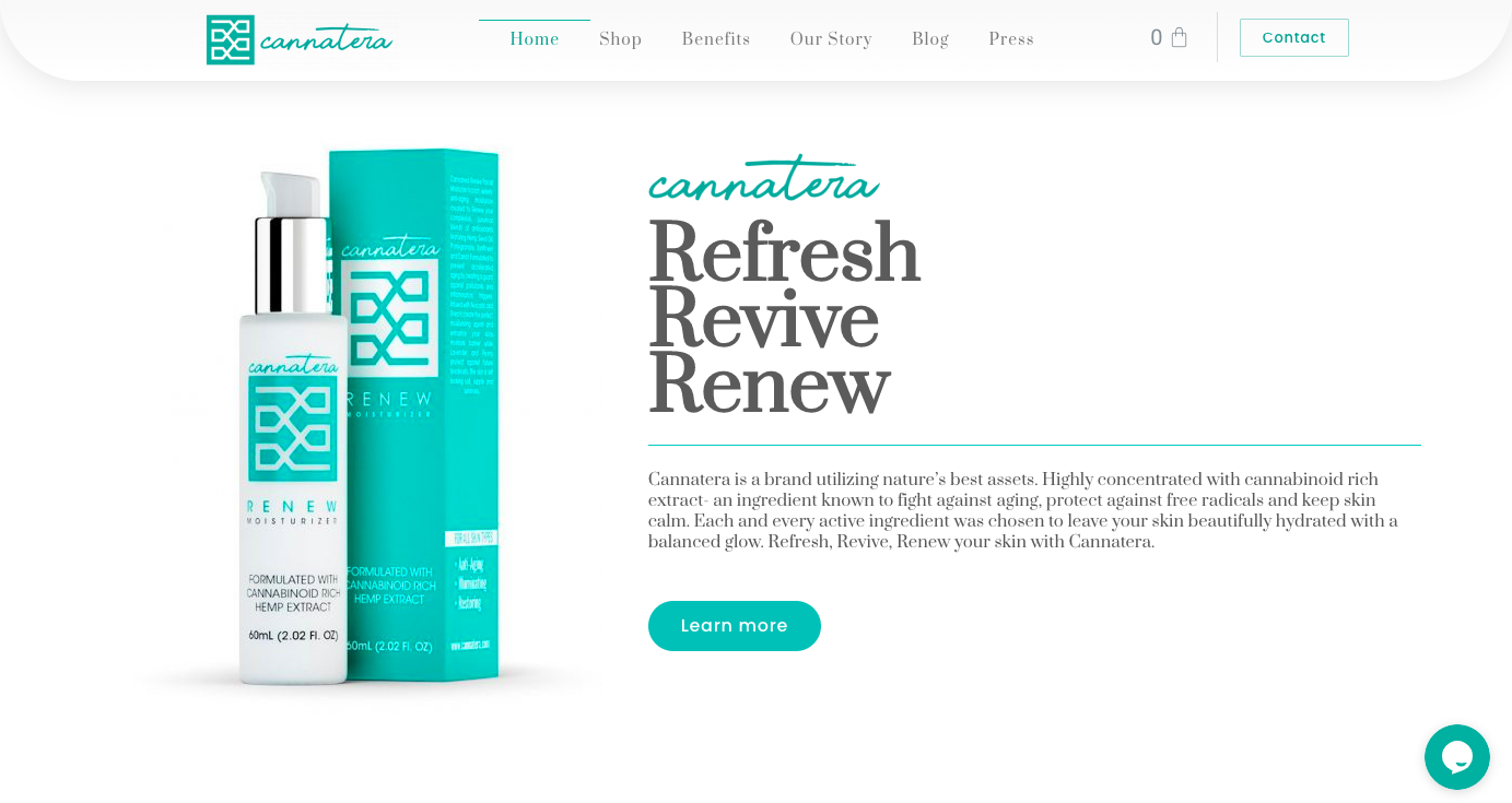 Cannatera Launches New Site in Conjunction with Announcing a New Face Mask and Luxury Skin Care Line