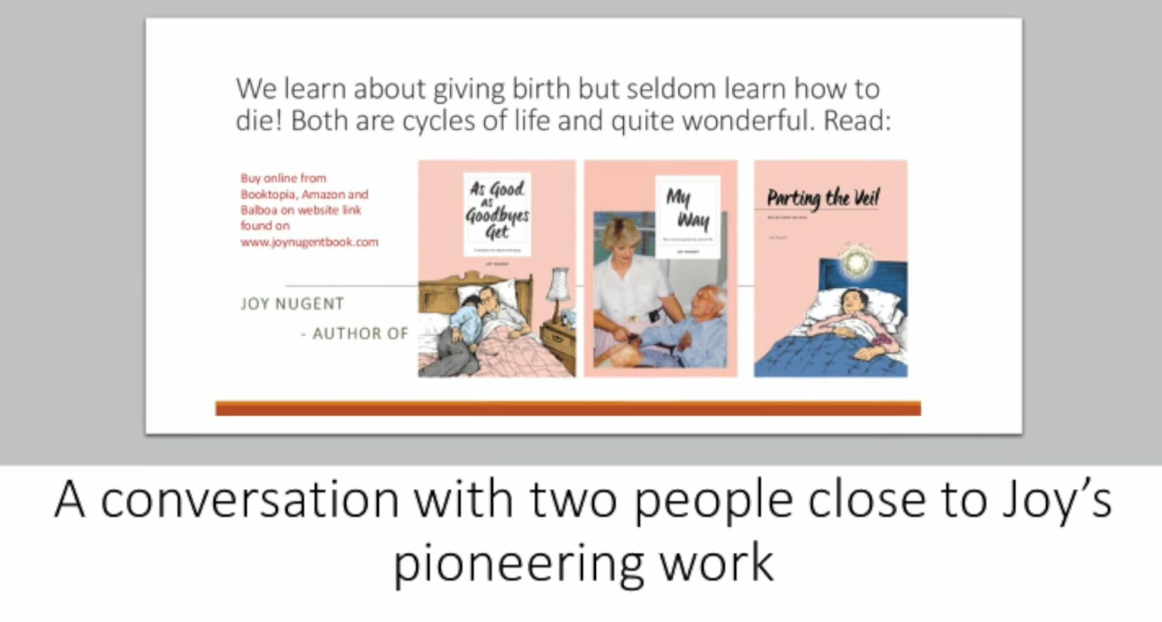 Energy Wisdom from Author Joy Nugent