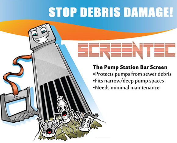 Innovative Screentec Bar Screen Stops Wipes Damages at US Sewers and Pumping Stations