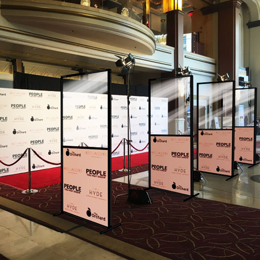 Los Angeles Step and Repeat Banners and Dividers Available For Socially Distanced Red Carpet Premieres