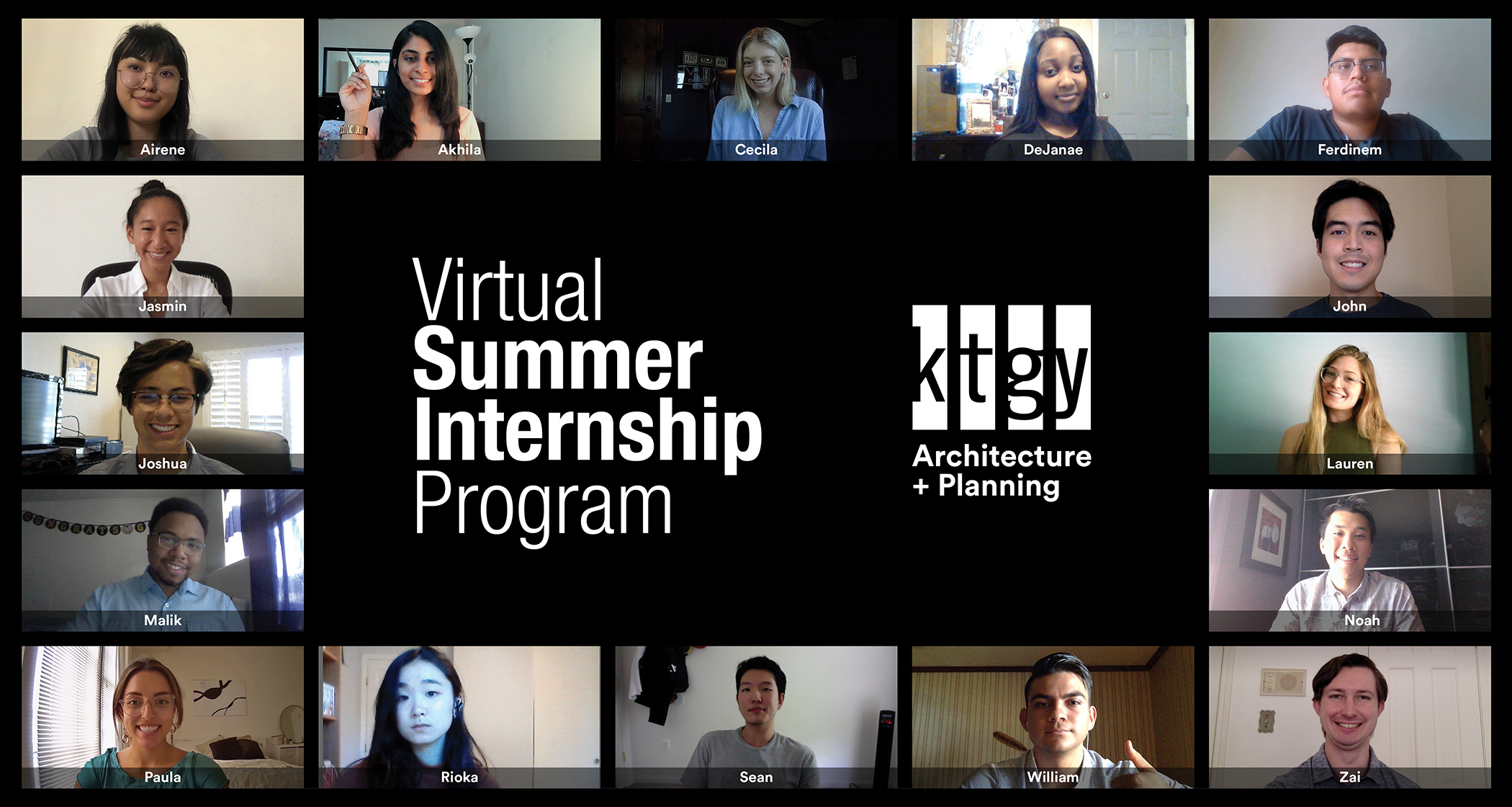 KTGY Architecture + Planning Wishes Summer Interns Best of Luck as the Firm's Inaugural Virtual Summer Internship Program Wraps-Up