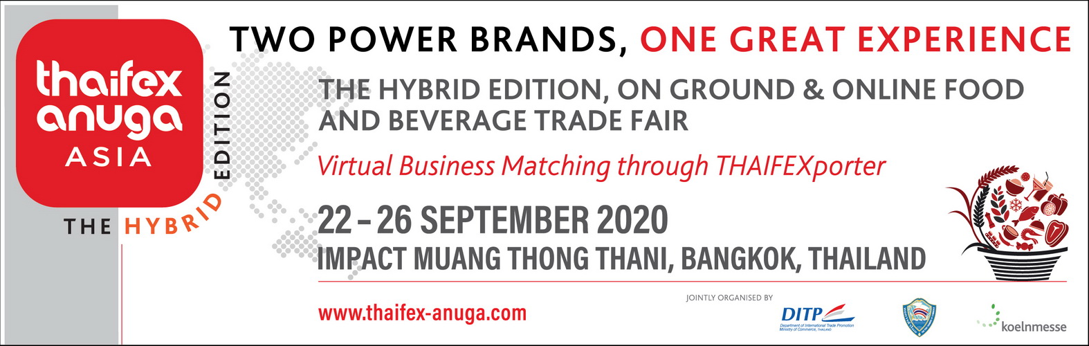 THAIFEX - ANUGA ASIA 2020 The Hybrid Edition: Expands Opportunities for Thai Business Operators to Meet Global Trade Partners through THAIFEXporter Virtual Trade Show