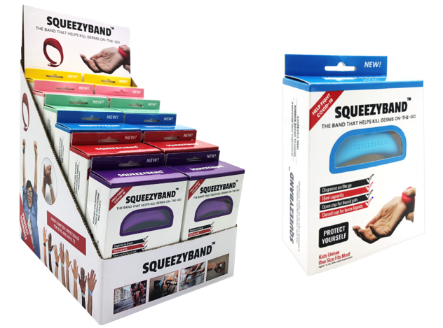 SQUEEZYBAND is now offered Nationwide Through Mr. Checkout's Direct Store Delivery Distributors.