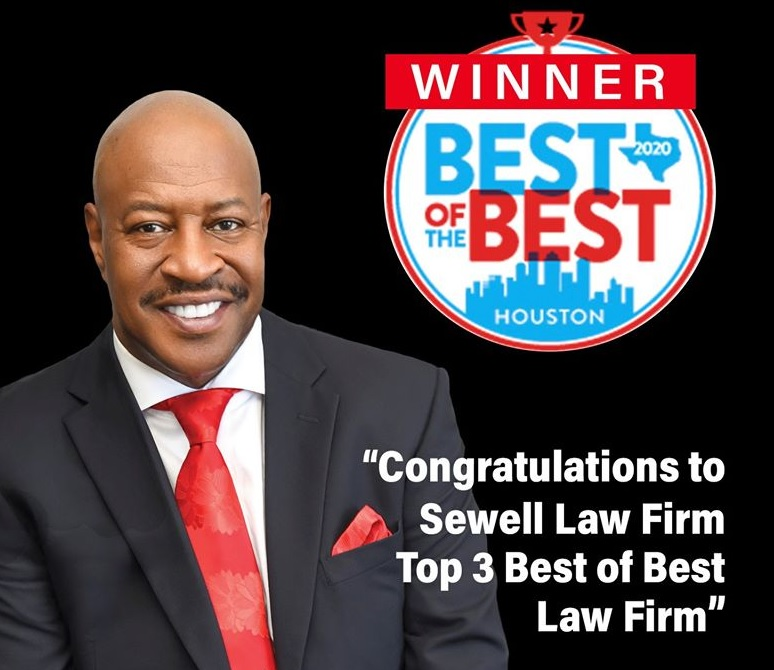 The Accident Warrior at the Sewell Law Firm Nominated Best of the Best in Houston