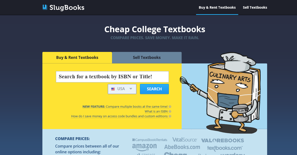 Textbook Buying Tips 101: Compare Prices on Slugbooks
