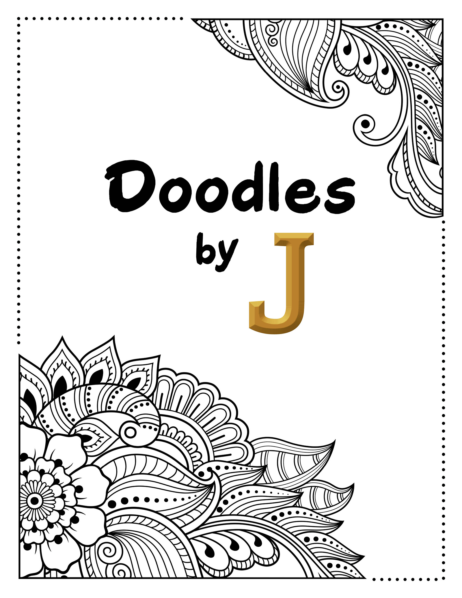 Doodle and color life in eccentric shades with 'Doodles by J'
