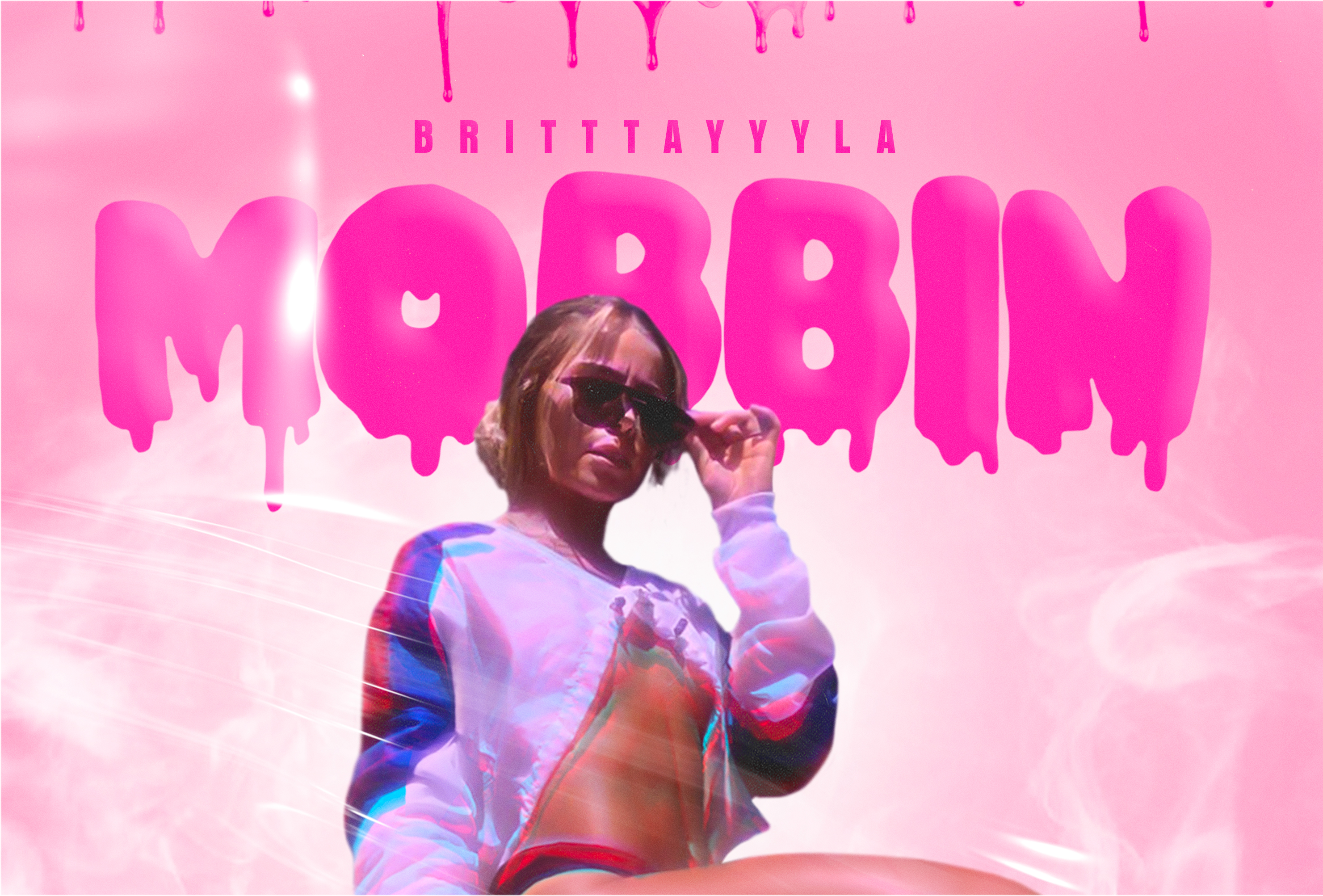 "Tiktok artist and influencer Britttayyyla is burning up Spotify with her single ""Mobbin"""