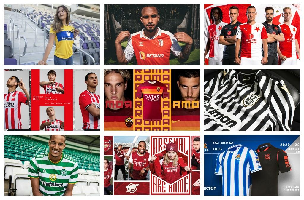 Camisetaliga.com 13 equipos: Camisetas Europa League 2020-2021
