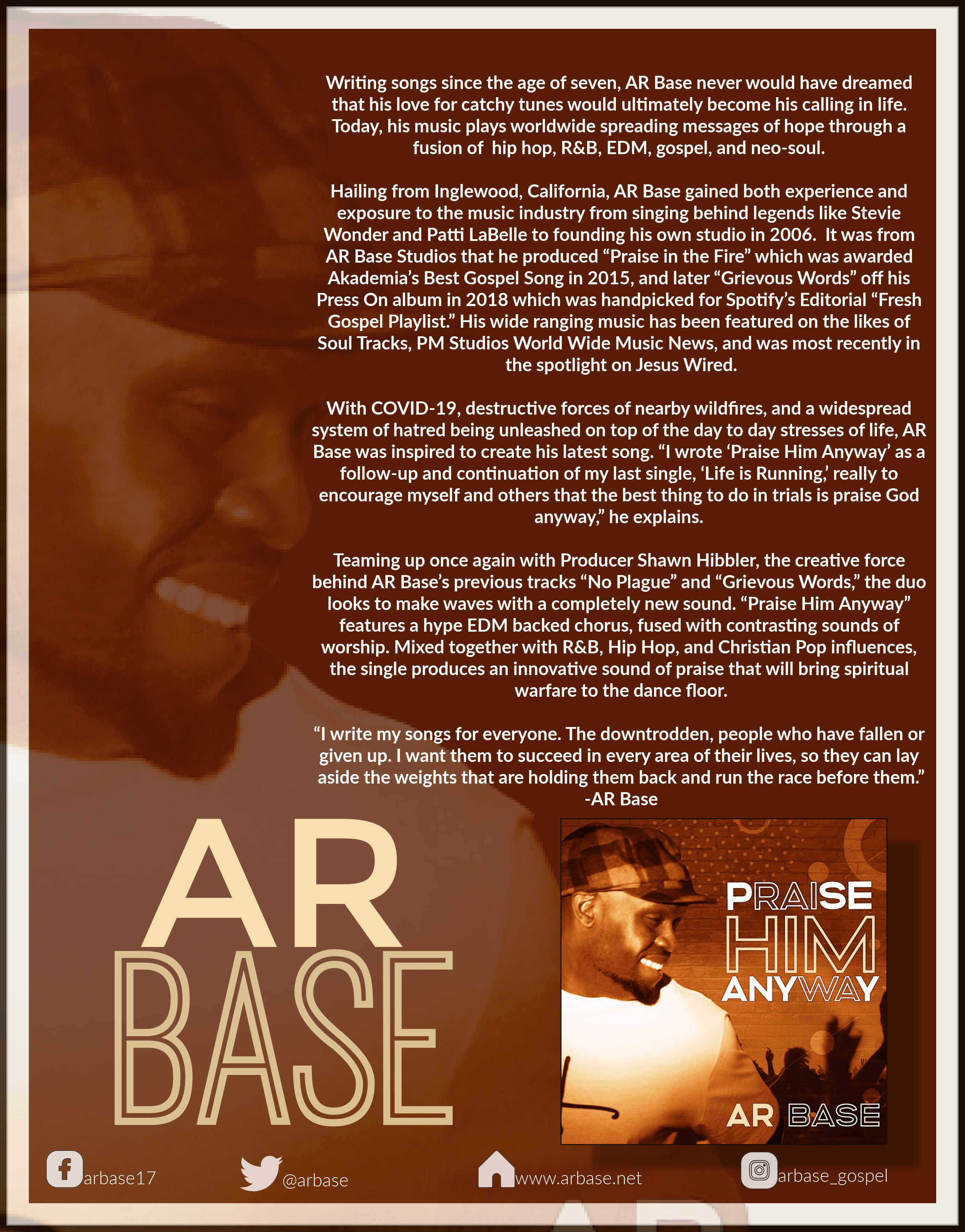 "AR Base's Latest Single Brings Warfare to the Dance Floor with ""Praise Him Anyway"""