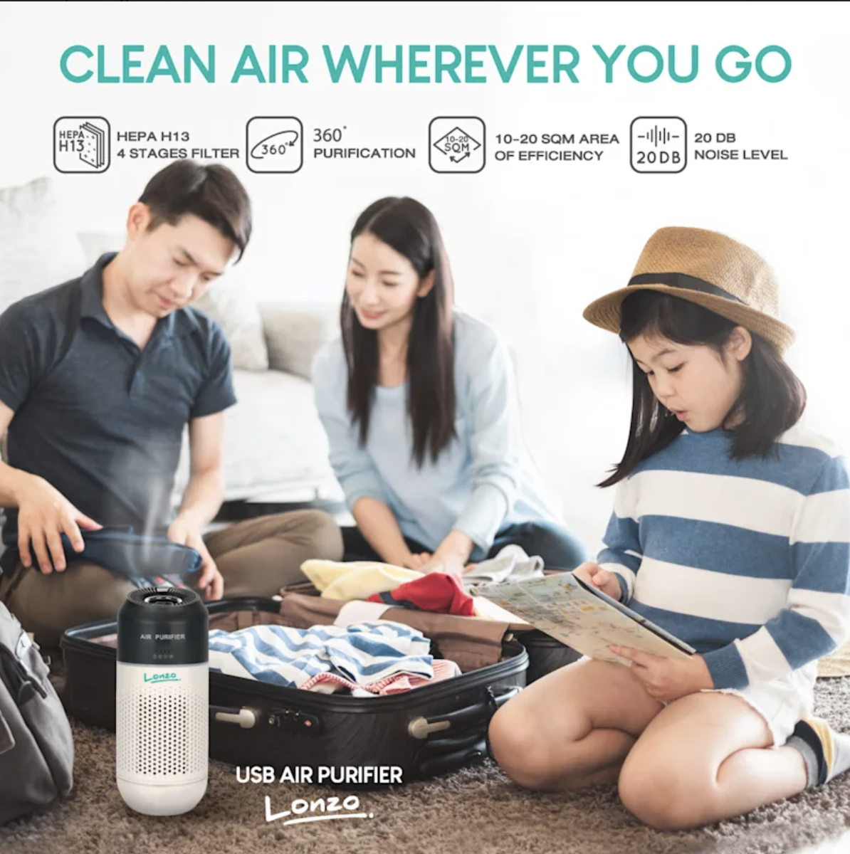 Hepelle Introduces Lonzo Mini Air Purifier in the US for Pure, Germ-Free Air
