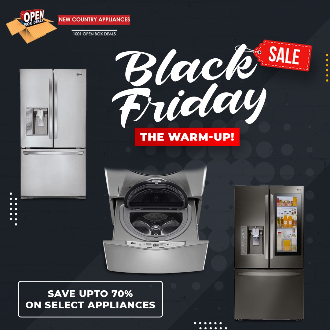 New Country Appliances Inc Announces Open Box Deals On Home Appliances and Electronics