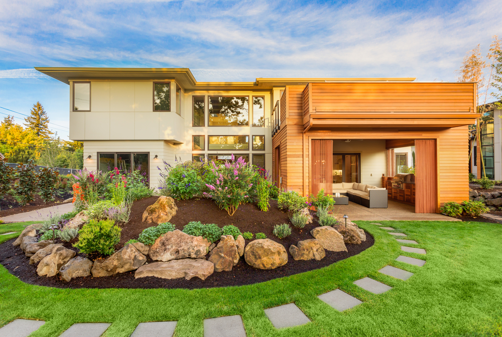 Nicely Designed Landscaping Makes Home Outdoors Attractive
