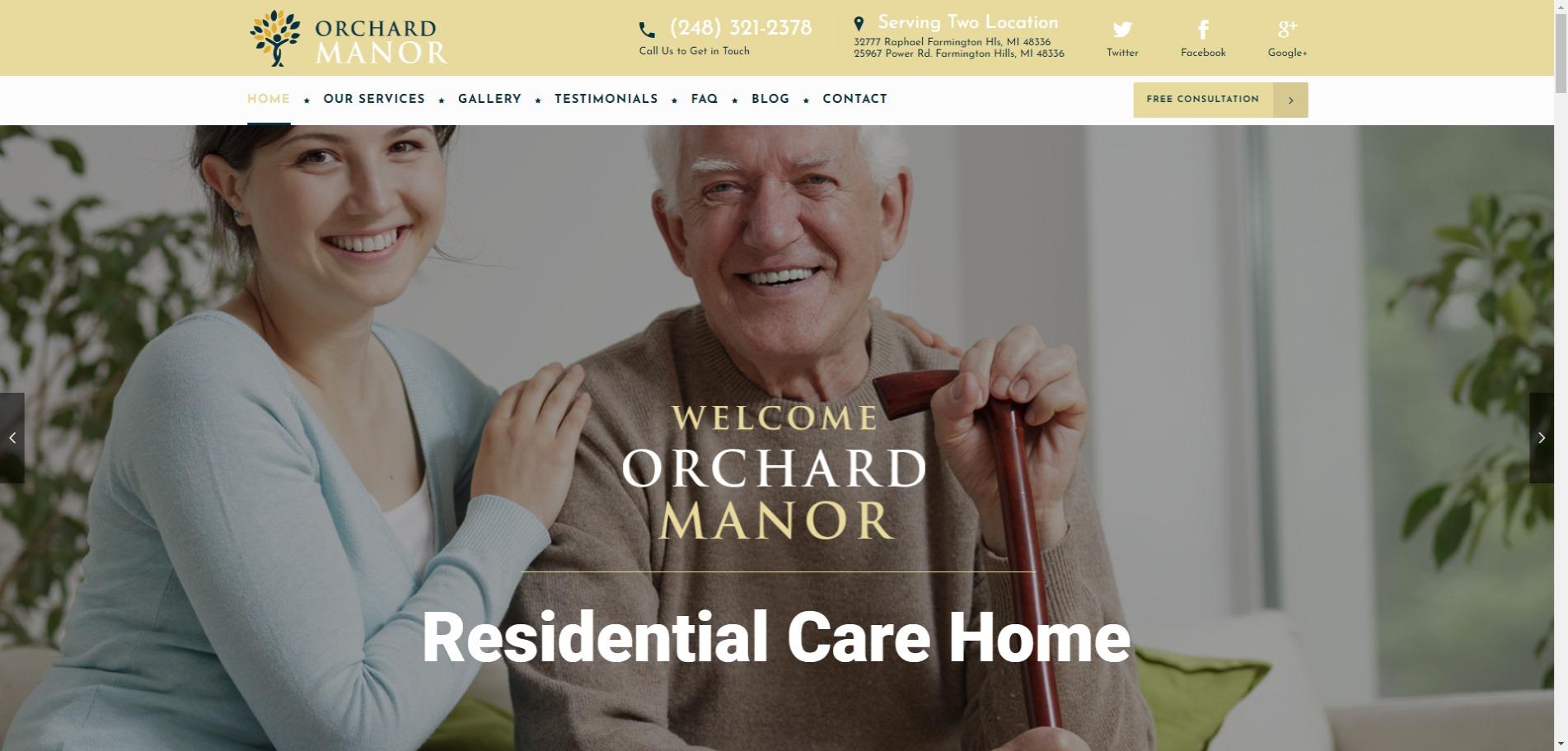 Orchard Manor Offers Unbridled Senior Care in Farmington Hills, MI