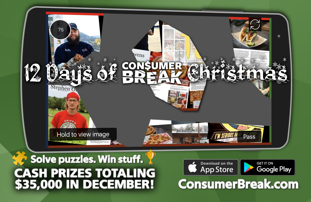 ConsumerBreak App Celebrates the 12 Days of Christmas Encouraging Players to Play for a Chance to Win