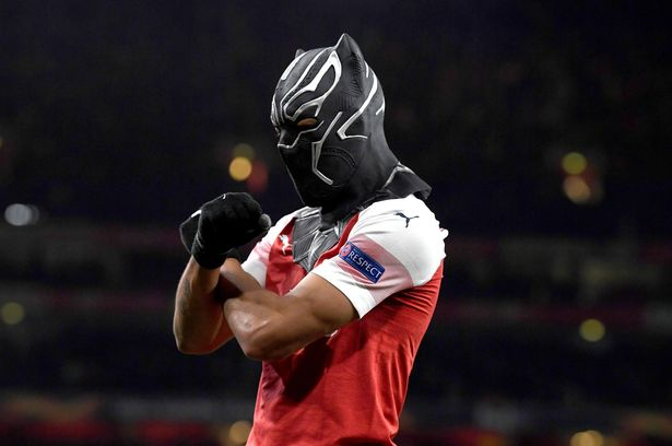 Aubameyang mask mystery ended with a revelation