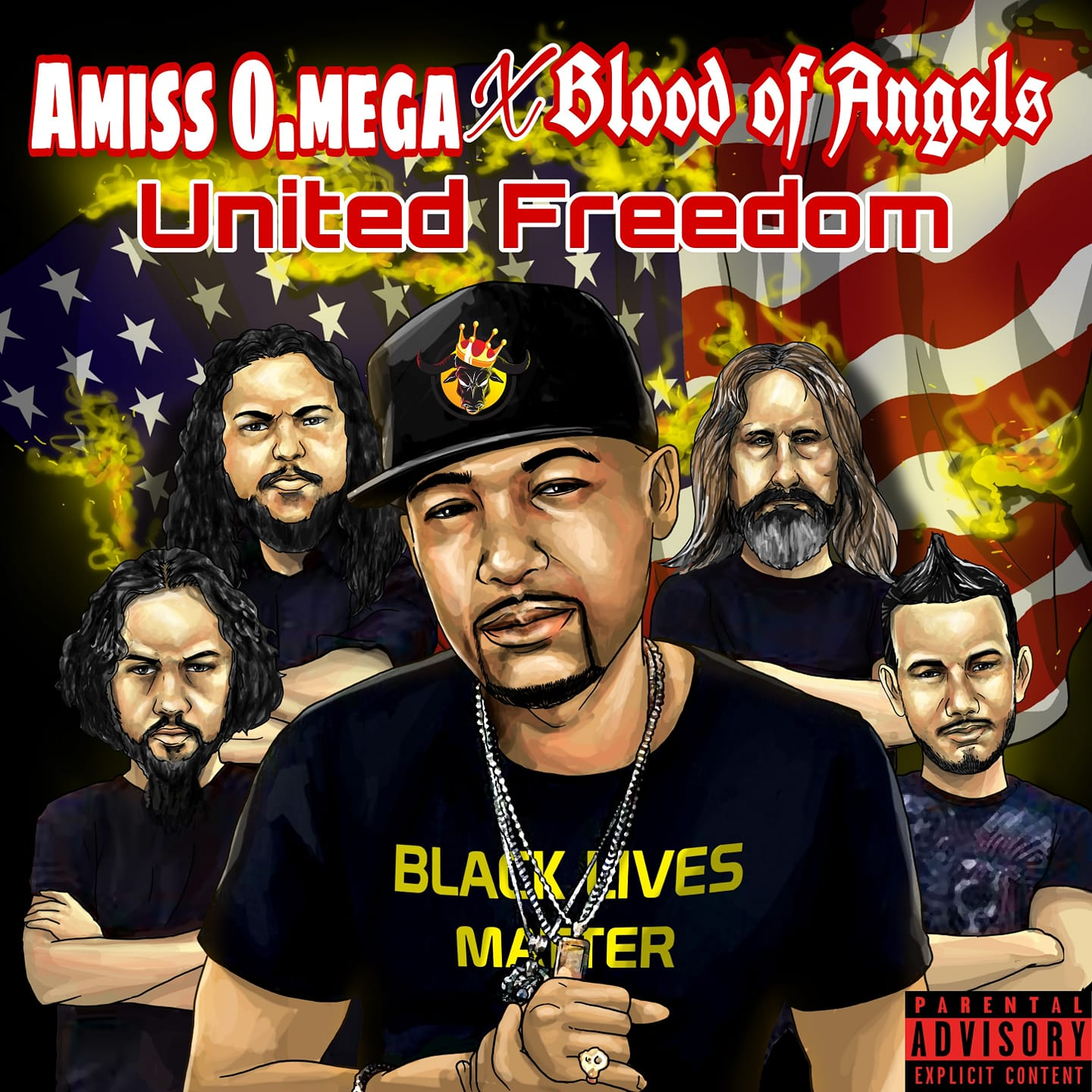 Blood of Angels & Hip-Hop Artist Amiss O.Mega collaborate for the song 'United Freedom'