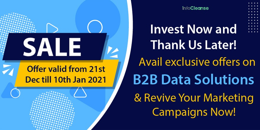 InfoCleanse B2B Data Solution Whooper Sale Is On