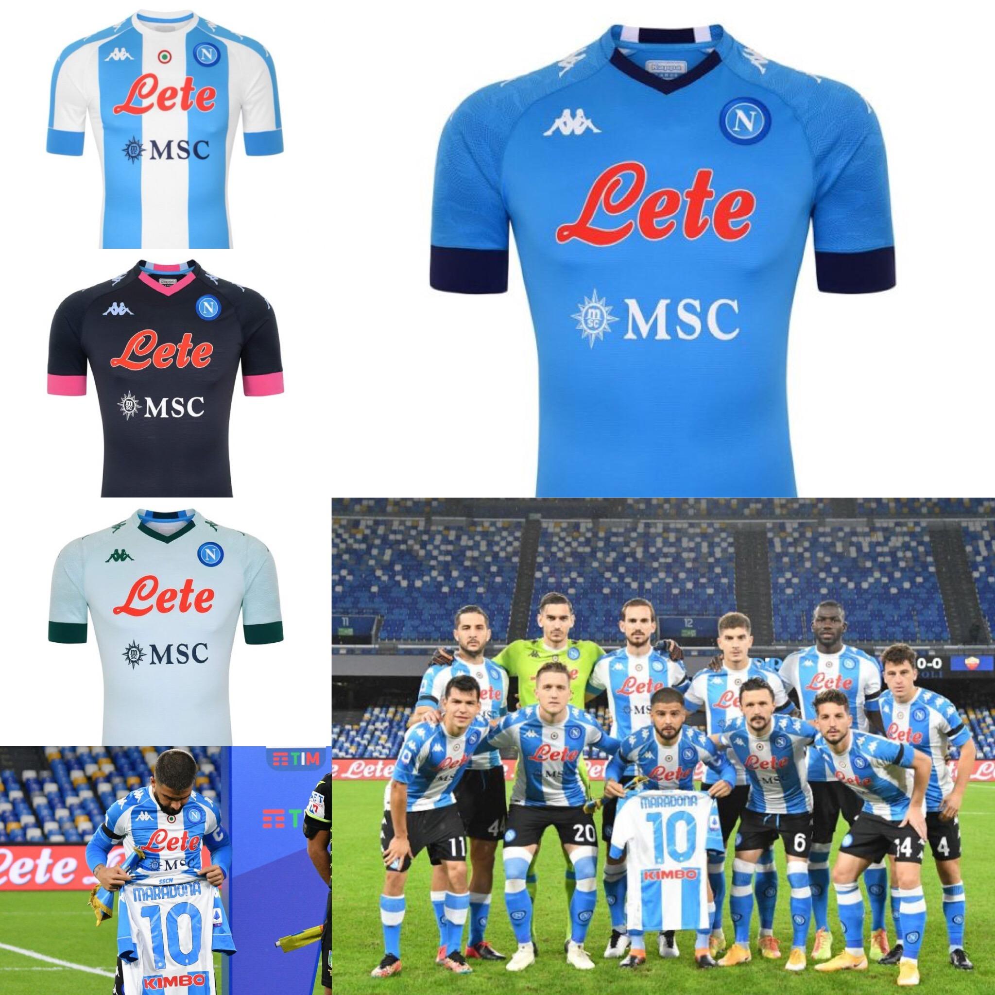Napoli y su homenaje a Diego Maradona: Camisetas Kappa del Napoli 2020/2021