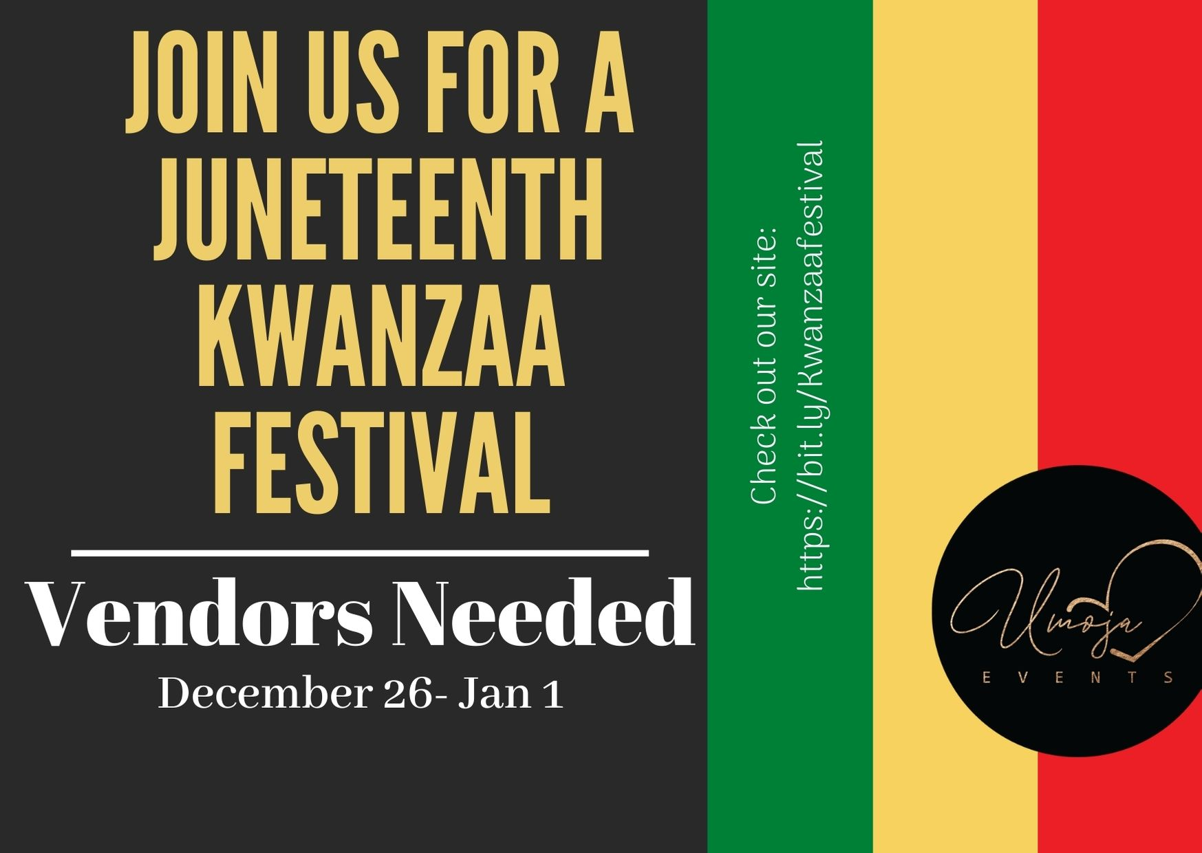 The Kwanzaa Festival and Online Market Starts December 26, to Raise Funds for Black Businesses Hit by Covid-19